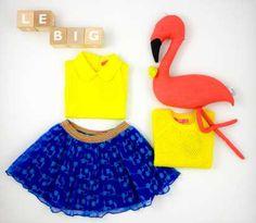 Get this look @hetlandvanooit! Met kleertjes van LE BIG. Flamingo van @scalae en letterblokken van @oohnoo_official. #hetlandvanooit #lebig