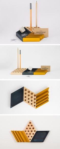 Pine desk organizer KESITO by Woodendot