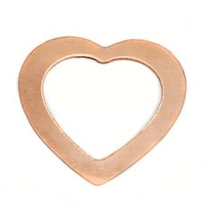Beaducation: Copper Large Heart Washer, 24g [CO013]