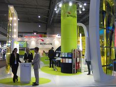 Exhibition Stand Builders - Actelion- like the colourful designs on floor- good idea
