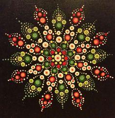 Mit allerførste forsøg på at lave en prik-mandala! Dot Art Painting, Mandala Painting, Pebble Painting, Pebble Art, Stone Painting, Mandala Design, Mandala Pattern, Mandala Meditation, Mandala Painted Rocks