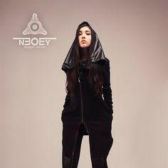 Items similar to Black Jacket Oiru with big hood by NEOBY Design hoodies /hooded sweatshirt/hoodie /hoodie women/hoodie scarf/baza hoodie on Etsy Winter Puffer Jackets, Hooded Cloak, Yohji Yamamoto, Long Cardigan, Hooded Sweatshirts, Hoods, Trending Outfits, Model, Faces