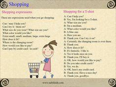 Phrases: Shopping