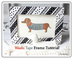 DIY : Washi Tape frame tutorial (from The Cottage Market to The 36th Avenue)