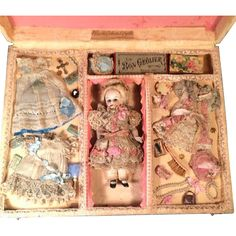 "7"" All Bisque Jointed Doll Marked 3 in Fabulous Presentation Box from marywhite on Ruby Lane"