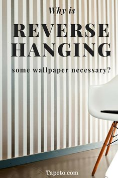 Do I really need to reverse hang my plain wallpaper?  So you've picked a super simple looking wallpaper and you figured it would just as simple to hang; it doesn't even have a pattern to match up. But then you notice this funny symbol with two vertical arrows pointing in opposite directions and the instruction to 'reverse alternate lengths.' When the wallpaper is so simple, you might be wondering if this is really something you need to do and what happens if you don't. We'll explain it to…