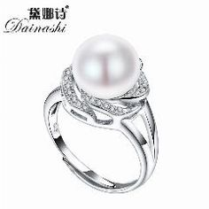 [ 30% OFF ] Big Discount 925 Sterling Silver Jewelry On Sale Big Natural Pearl Rings For Women Stone Ring Adjustable White/pink/purple Pearl