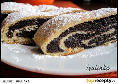 Kynutý makový závin recept - TopRecepty.cz Strudel, Christmas Baking, Muffins, Food And Drink, Cooking Recipes, Sweets, Breakfast, Ethnic Recipes, Poppy