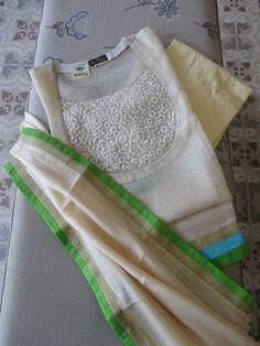 To customize whatsapp 9043230015 for Saree, blouse and Kurtis - Salvabrani Kurtha Designs, Chudidhar Neck Designs, Neck Designs For Suits, Neckline Designs, Dress Neck Designs, Designs For Dresses, Salwar Suit Neck Designs, Kurta Neck Design, Kurta Designs Women