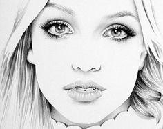 Tarja Turunen lápiz dibujo arte Minimalism retrato por IleanaHunter