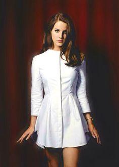 Beautiful dress, stunning face.
