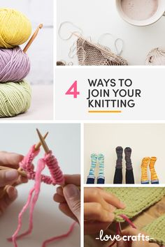 We've got four totally different ways for you to join your knitting! | Learn with LoveCrafts.com