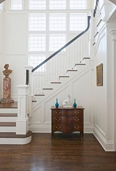Traditional staircase remodeling ideas newel post design house entry chest of drawers