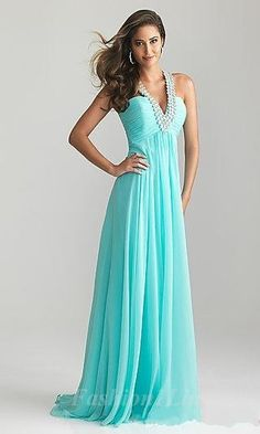 Such a pretty prom dress! Such a sweet color and a little bling. ;)
