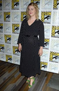 """Ashley Johnson Photos - Actress Ashley Johnson attends """"Blindspot"""" Press Line during Comic-Con International 2016 at Hilton Bayfront on July 2016 in San Diego, California. - Comic-Con International 2016 - 'Blindspot' Press Line Ashley Johnson, Jaimie Alexander, Comic Con Cosplay, Sexy Shirts, Green Shoes, Height And Weight, Beautiful People, Sexy Women, Celebs"""
