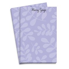 Lavender Botanical Notepad