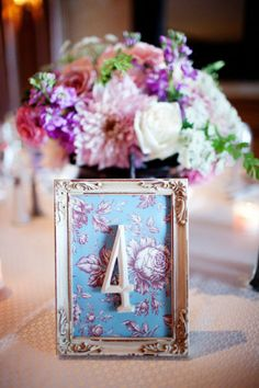 Table numbers idea... I will do this!