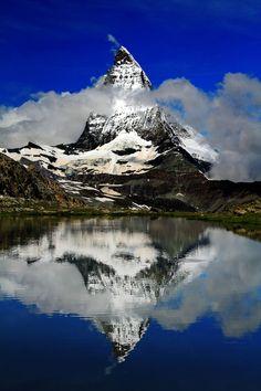 Matterhorn (Monte Cervino) Reflected, Zermatt, Switzerland