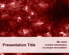 Red Kaleidoscope PowerPoint Template is a simple PPT template with aRed Kaleidoscope design in the master slide