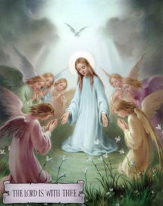 Hail Mary, the Lord is with Thee.    YBH