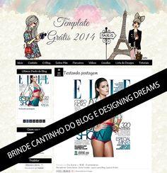 Template Grátis para Meninas - Cantinho do blog Layouts e Templates para Blogger