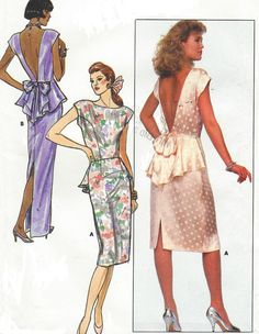 80s Butterick Sewing Pattern 5595 Womens Evening by CloesCloset