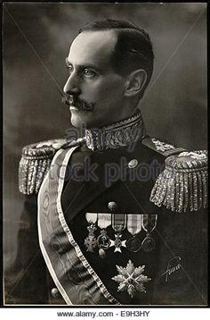 Portrett av Kong Haakon VII / King Haakon VII - Stock Image