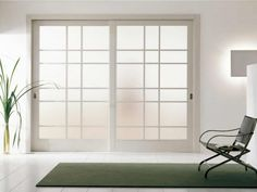 Contemporary White Wooden Frosted Glass Sliding Door With Room Divider Also Japanese Sliding Room Dividers Ideas