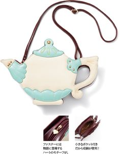 Teapot handbag! Great for tea parties, Alice in Wonderland, Victorian and Lolita.