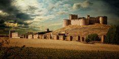 CASTLES OF SPAIN - Castillo de Berlanga de Duero, Soria. Fue construido en el siglo XV, sobre otro anterior, y éste sobre otro musulmán. Fernando I en 1059 toma Berlanga, donde los musulmanes no se fueron sin antes romper las muralla del castillo.  A finales del siglo XIII el infante Don Enrique lo toma como centro de sus operaciones en las luchas por el trono de Castilla.