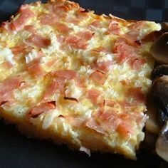 Ham and Cheese Breakfast Quiche - Allrecipes.com ~ watch video