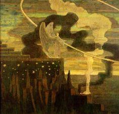 Mikalojus Konstantinas Čiurlionis, A Sacrifice, 1909