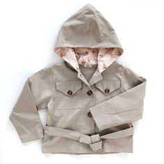 Very cool baby jacket upcycled from your own vintage clothing and fabrics