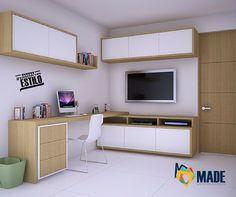 Centro de entretenimiento + Estudio   Decoración de Interiores   Diseño de Interiores Diseño by Arq Alex Pardo Tv, Flat Screen, Coral, Design, Ideas, Entertainment Centers, Home Office, Desks, Google Search