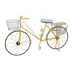 Crafted from high-quality iron, this beautiful decorative multi color garden bicycle planter is sure to provide durability and decor that you'll love for years. Showcasing lovely colors and an elegant