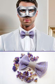 EMBROIDERED bow tie LILAC grey groom's bowtie For wedding in Lavender Purple Plum Orchid Eggplant Violet Mint Magenta Wisteria Burgundy Gold