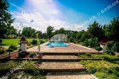Basen Baslux Siedziba Firmy / Baslux Pool Company Pool Companies, Pools, Transportation, Mansions, House Styles, Garden, Home Decor, Garten, Decoration Home