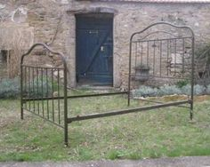 French antique full size double bed