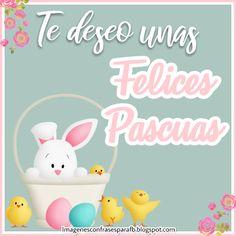 Te deseo unas Felices Pascua para ti y toda tu hermosa familia - Encuentra la imagen que necesitas para enviar en estas #Pascuas Vintage Easter, Tweety, Decoupage, Cards, Quotes, Baby, Craft, Amor, Easter Card