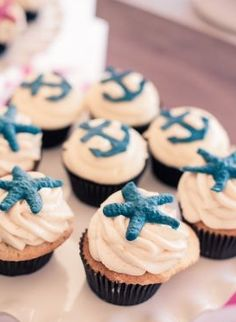 Inspired by this Pink and Blue Nautical Baby Shower (beach cake food nautical sweets) - Lover.ly