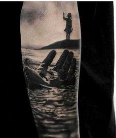 Idea for second tattoo - Tattoo ideen - Best Sleeve Tattoos, Cover Up Tattoos, Leg Tattoos, Body Art Tattoos, Girl Tattoos, Tattoos For Guys, Lotr Tattoo, Mädchen Tattoo, Tattoo Motive