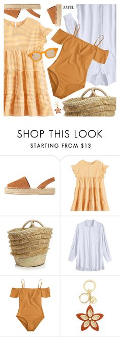 """""""Step into Summer: Espadrilles"""" by pokadoll ❤ liked on Polyvore featuring MANGO, Caterina Bertini, MICHAEL Michael Kors and Hakusan"""