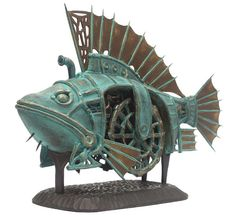 Steam punk fish. Looks like the one from James and the Giant Peach.