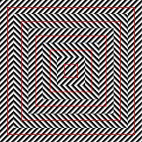 Illusion Squares - the red squares look crooked, but in fact they are perfectly squares Op Art, Eyes Game, Mind Benders, Cool Optical Illusions, Concrete Art, Illusion Art, Fractals, Mindfulness, Graphic Design