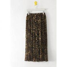 Charming Elastic Leopard Embellished Column Chiffon Women's Skirt