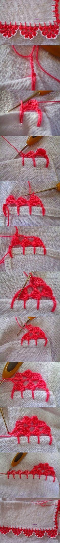 crochet lacy beak wonderful DIY T Wonderful DIY Pretty Crochet Lacy Beak Crochet Boarders, Crochet Motifs, Crochet Trim, Knit Or Crochet, Crochet Crafts, Crochet Doilies, Crochet Flowers, Crochet Stitches, Crochet Projects