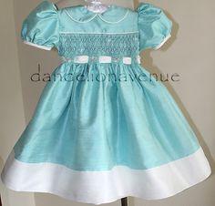 Dandelion Avenue: Gorgeous Tiffany Blue Smocked Pageant Dress!