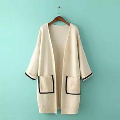 Knitwear Fashion, Knit Fashion, Fashion Room, Look Fashion, Winter Fashion, Winter Blouses, Knitted Coat, Dressed To The Nines, Japan Fashion