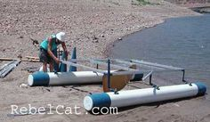 DIY PVC BOAT - Google Search Mini Pontoon Boats, Boat Tubes, Boat Pics, Shanty Boat, Sailboat Plans, Kayak Rack, Pvc Projects, Diy Boat, Boat Stuff