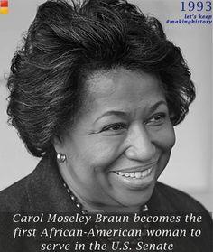 Twitter / emilyslist: EL #WHM: 1993: Carol Moseley ...